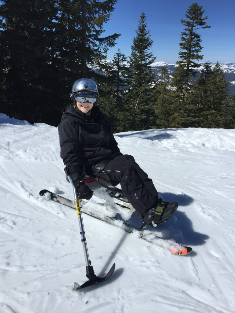Enjoying a Beautiful Day on the Slopes.